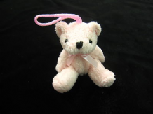 Teddy bear key tassel Ted on a rope small soft toy polyester fabric teddie bear